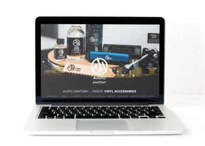 Screenshot der Webseite von Audio Anatomy