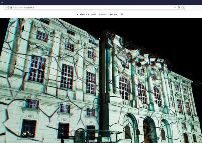 Screenshot der Webseite von Klanglicht
