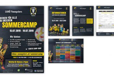 Design verschiedene Drucksorten für Fußballverein